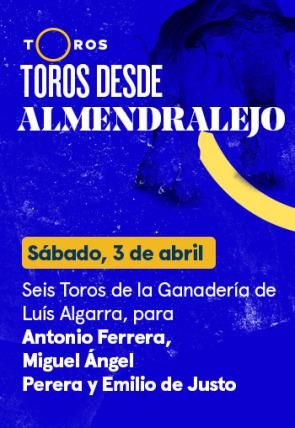 Luís Algarra, para Antonio Ferrera, Miguel Ángel Perera y Emilio de Justo (03/04/2021)