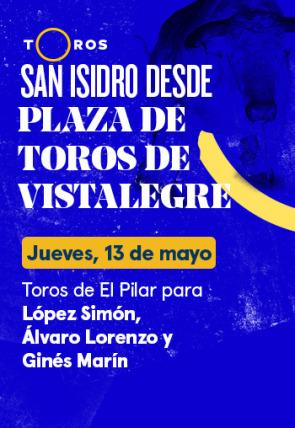 Toros de El Pilar para López Simón, Álvaro Lorenzo y Ginés Marín (13/05/2021)