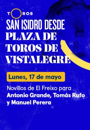 Novillos de El Freixo para Antonio Grande, Tomás Rufo y Manuel Perera (17/05/2021)