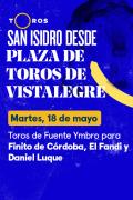 Feria de San Isidro, Vistalegre(T2021) - Toros de Fuente Ymbro para Finito de Córdoba, El Fandi y Daniel Luque (18/05/2021)