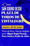 Feria de San Isidro, Vistalegre(T2021) - Toros de Hnos. García Jiménez para Miguel Ángel Perera, Paco Ureña y Emilio de Justo (20/05/2021)
